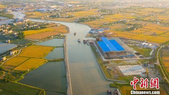 杭平申线平湖段。 嘉兴港航供图