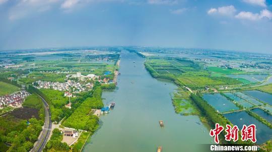 嘉善太浦河。 嘉兴港航供图