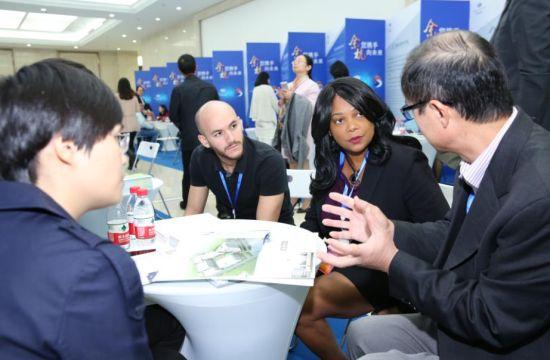 2017相约未来科技城暨余杭区海外高层次人才对接会现场。 倪明伟 摄