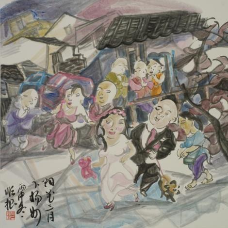 蔡顺根作品《烟花三月下扬州》 蔡顺根提供