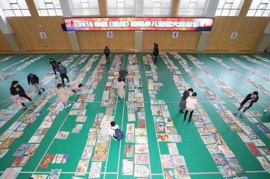 中国(杭州)国际少儿漫画大赛终评现场。 由举办方供图