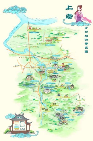 图为上虞乡村旅游导览图 主办方供