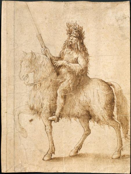 图为:达・芬奇的素描手稿《骑士》。 主办方供图