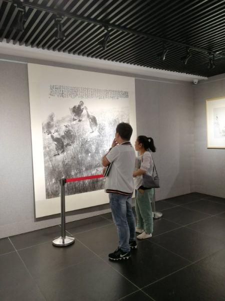 姚晓冬中国画作品展在浙江兰溪开展 兰溪宣传部提供