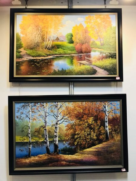 图为:俄罗斯列宾美术学院当代著名画家作品展作品。 主办方供图