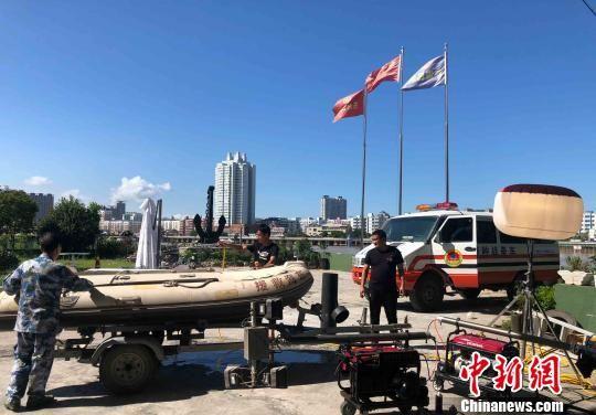 浙江苍南,当地正在做迎战台风前的准备工作。 浙江省人防办 摄