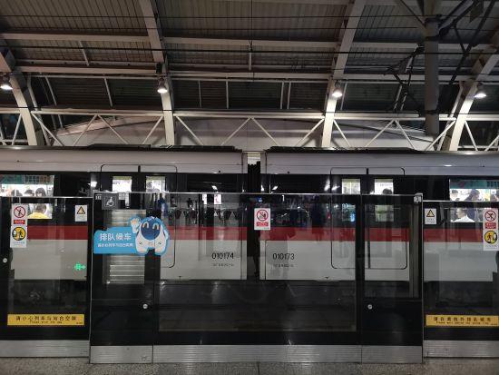 图为杭州地铁1号线。 张煜欢 摄