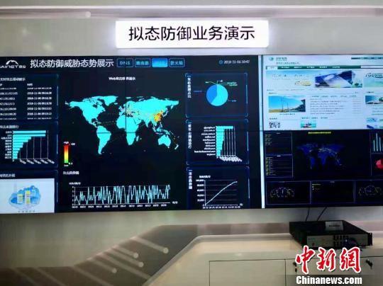 拟态防御业务演示。 之江实验室供图 摄