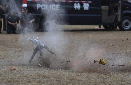 杭州公安特警进行反恐处突实战演练
