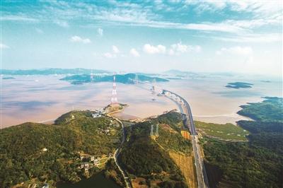 浙江第二大海上悬索桥贯通高亭到舟山本岛只要10分钟